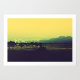 On a road to nowhere Art Print
