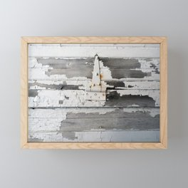 Hinge on Vintage Door Framed Mini Art Print