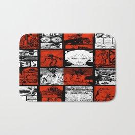 RED & WHITE - A nne Frankenstein Book I - Resurrection Bath Mat