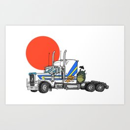 No Trouble in Little Japan Art Print