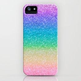 Rainbow Glitter iPhone Case