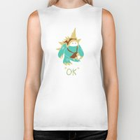 kim sy ok Biker Tanks featuring Ok by YiannisTees