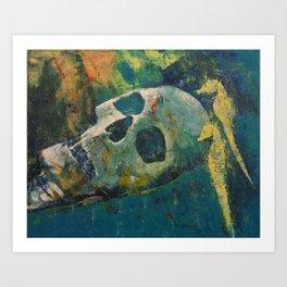 Yellow Seahorses Art Print