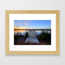 Good Evening World Framed Art Print