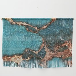 GEMSTONE  & GOLD AQUA Wall Hanging