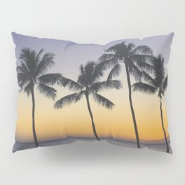 Palm Trees w/ Ombre Tropical Sunset - Hawaii Pillow Sham