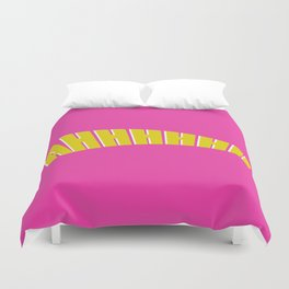 ahhh double layer white pink Duvet Cover