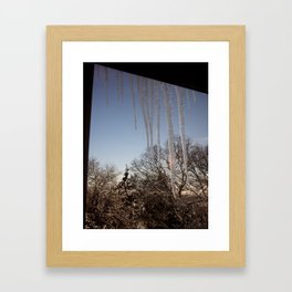 Icicles #2 Framed Art Print