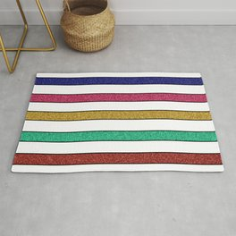 Stripes and glitter Rug