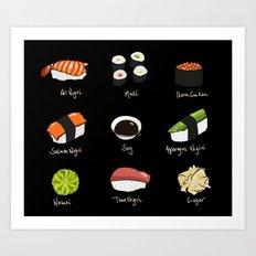Sushi Days two Art Print