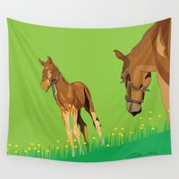horses Wall Tapestries featuring Horses by Anderssen Creative Imaging