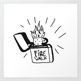 Fire Walk 2 - Cosplay Art Print
