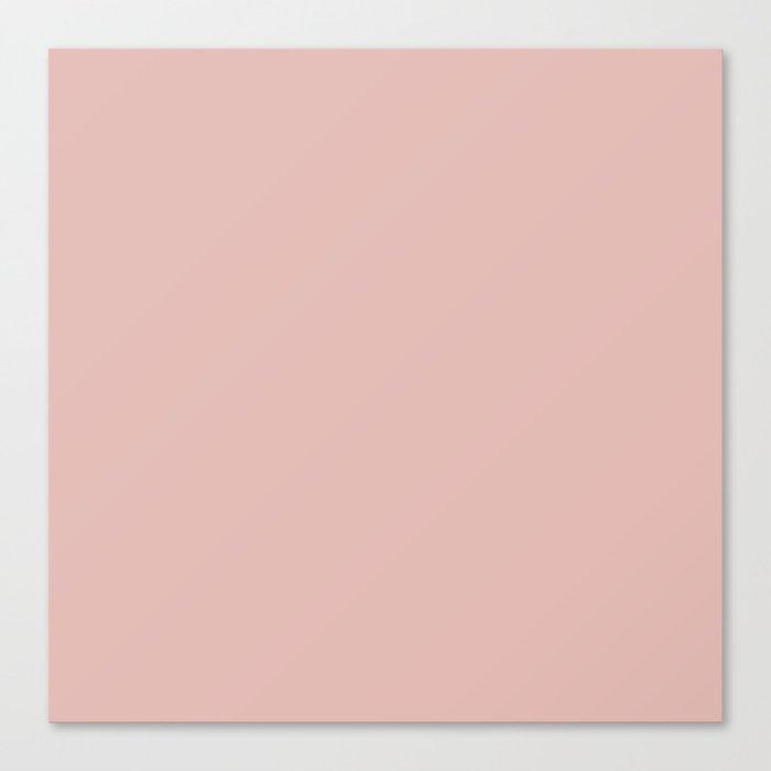 Solid Color Rose Gold Pink Leinwanddruck
