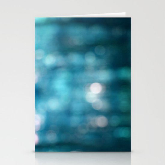 Blue Abstract Stationery Cards