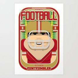 American Football Red and Gold - Enzone Puntfumbler - Victor version Art Print