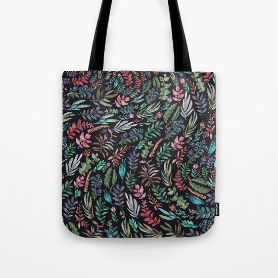 water color run leaves Tote Bag
