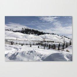 Carol M Highsmith - Snow Covered Hills Canvas Print