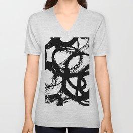 Dance Black and White Unisex V-Neck