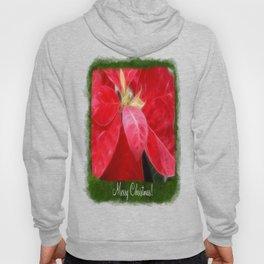 Mottled Red Poinsettia 2 Merry Christmas P1F1 Hoody