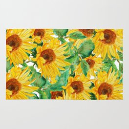 sunflower pattern Rug
