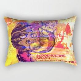 Blonde Vs. Monster Rectangular Pillow
