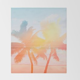 Tropicana seas - sundown Throw Blanket