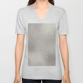 Simply Metallic in Silver Unisex V-Neck