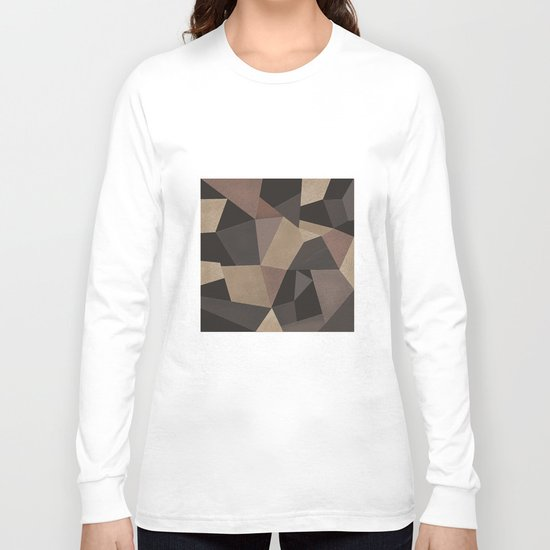 Brown pattern . Leather patches . Long Sleeve T-shirt
