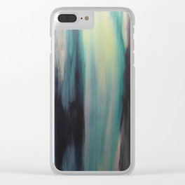 Blue in Green Clear iPhone Case