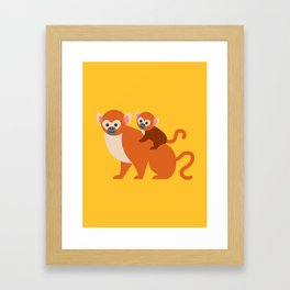 Monkey baby Framed Art Print
