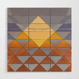 Pyramid Sun Mauve Purple Wood Wall Art