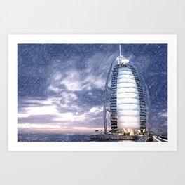 The Pride Of Dubai Art Print