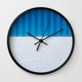 Striped Skies on the Salt Flats, Bolivia Wall Clock