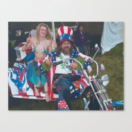 Captain Joint with Custom VW Trike at 420 Festival  Canvas Print