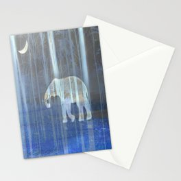 Moonlight with elephant Stationery Cards