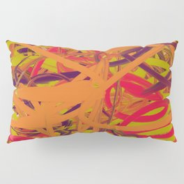 Orange Purple Green & Pink Abstract Pillow Sham