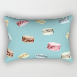 Macaroon pattern (Blue) Rectangular Pillow