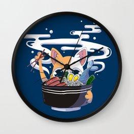 Ramen cat Wall Clock
