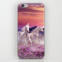 unicorns iPhone & iPod Skins featuring Unicorns by Nessendyl