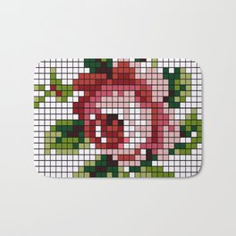 Shabby Chic Rose Bath Mat