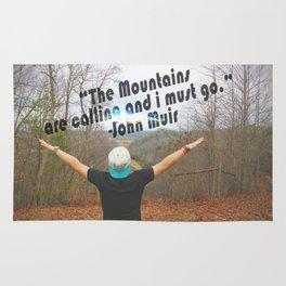 Mountains John Muir Rug