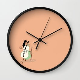 Celloist Wall Clock
