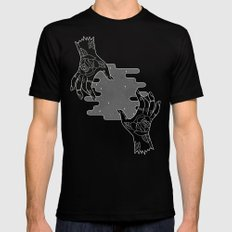 Inverted hands of creation Black Mens Fitted Tee MEDIUM