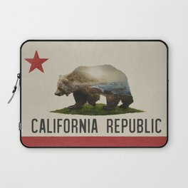 California Grizzly Bear Flag Laptop Sleeve