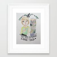 fangirl Framed Art Prints featuring fangirl by Majelle Legros