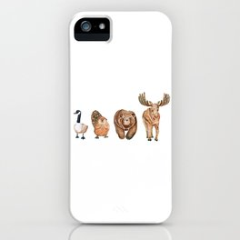 Canadian Crew | Woodland Animals Nursery Art iPhone Case
