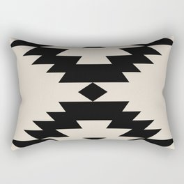 Southwestern Minimalism - Black Rectangular Pillow