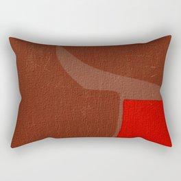 The Crimson Gnu Rectangular Pillow