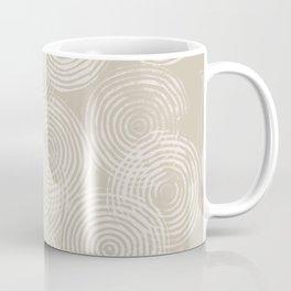 Radial Block Print in Tan Coffee Mug