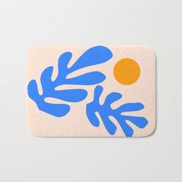 Henri Matisse - Leaves - Blue Bath Mat